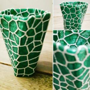Voronoi Vaas in 2 kleuren